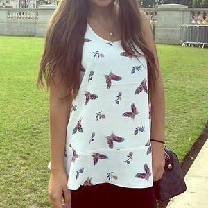 Cute butterfly blouse